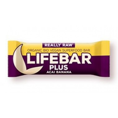 LIFEFOOD - Barretta Lifebar plus acai banana gr.47